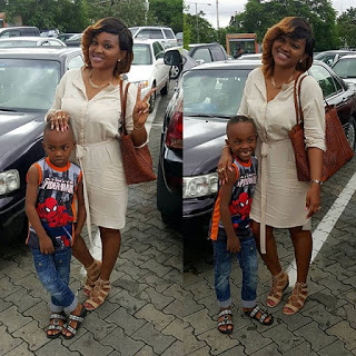 Mercy Aigbe and Son, Juwon
