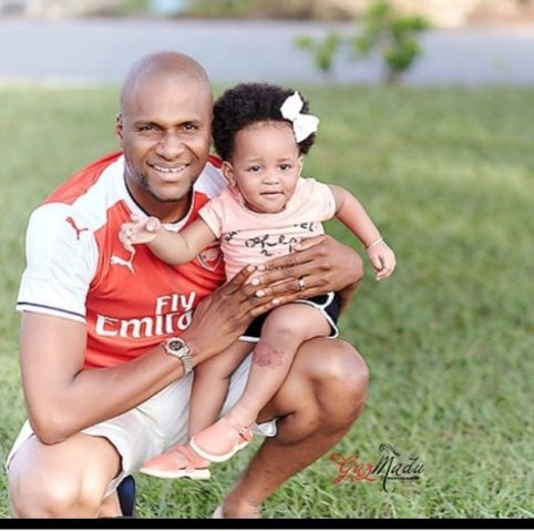 Anyaso with his firstborn daughter Zala
