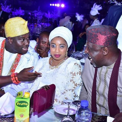 Ooni of Ife,Obaa Adeyeye Ogunwusi his wife and Imo State Gov, Rochas Okorochaa