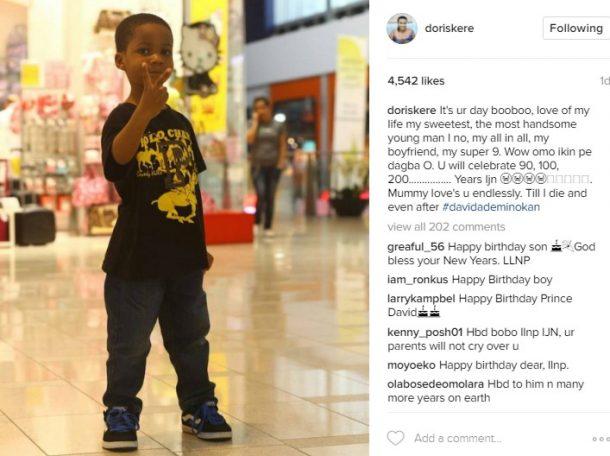 Doris' Simeon's post on David's birthday