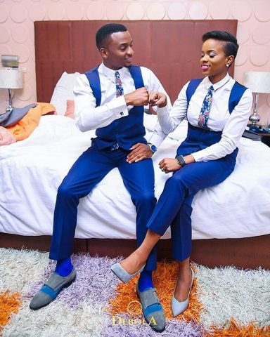 Groom, Ayo with twin sister Ayodle