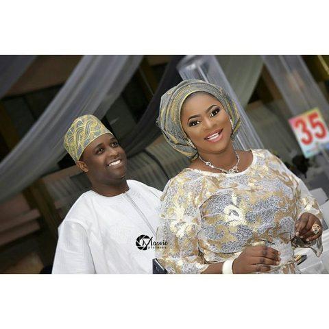 Femi Adebayo and wife, Omotayo