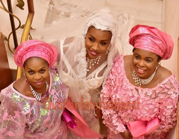 Hajia Shagaya , Dame Jonathan and the bride