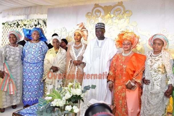 couple with Richest Woman In Africa, Folorunsho Alakija, Justice Fati Abubakar