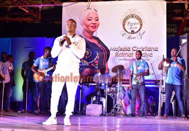 Lanre Teriba performing