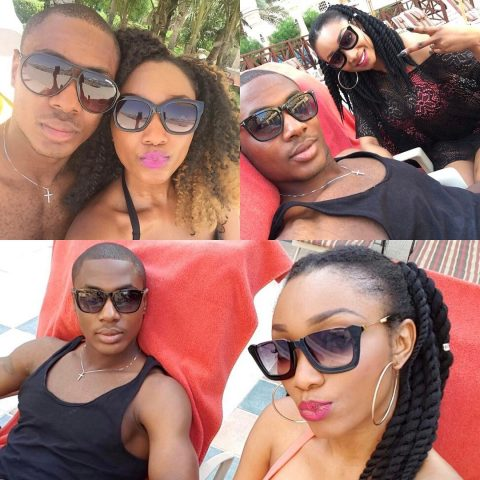 Odion and wife lounging at the beach