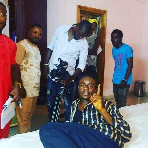 Emeka Ike on set (5)
