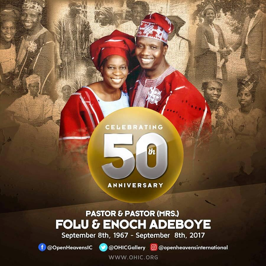 Pastor Adeboye, Wife Mark 50th Wedding Anniversary (Photos